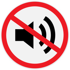 No sound, music, sign