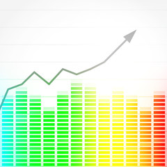 wykres giełda wektor