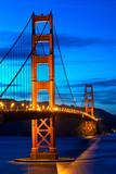 Golden Gate Bridge at sunset, San Francisco, US