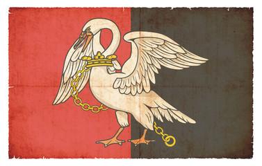 Grunge Flagge Buckinghamshire (Großbritannien)