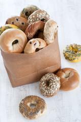 ベーグル 紙袋 パン たくさん 種類