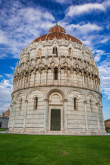 Historic Baptistery in Pisa summer