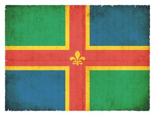 Grunge Flagge Lincolnshire (Großbritannien)