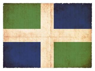 Grunge Flagge Oxfordshire (Großbritannien)