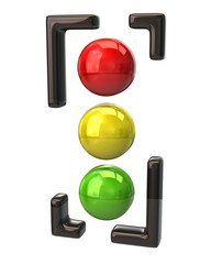Traffic light icon on white background