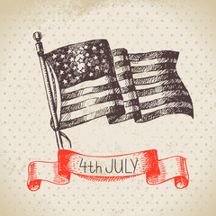 4th of July vintage background. Independence Day of America
