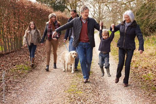 Multi Generation Family On Countryside Walk - 67940016