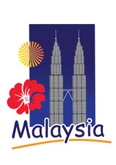The Petronas Tower in Kuala Lumpur, Malaysia.