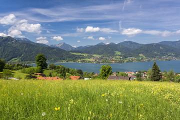 Blick auf den Tegernsee, Bayern