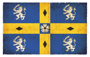 Grunge Flagge Durham (Großbritannien)