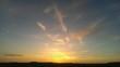 canvas print picture - Wolkendunst im Sonnenuntergang