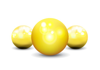 gold sphere vector