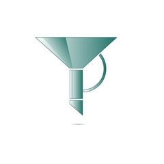 funnel icon vector