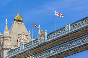 Tower Bridge (1886 – 1894) over Thames - iconic symbol of London