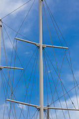 Modern Ship masts without sails