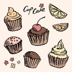 Sketch cupcake set