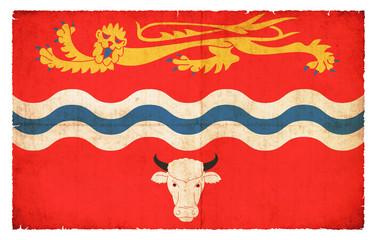 Grunge Flagge Herefordshire (Großbritannien)