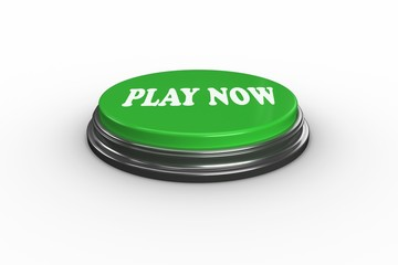 Play now on digitally generated green push button