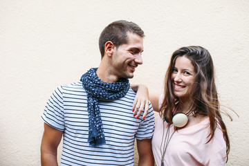 Portrait of a beautiful young couple.