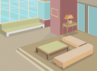 Living room design interior vector background