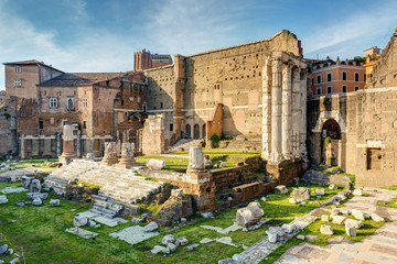Forum of Augustus with the temple of Mars Ultor in Rome