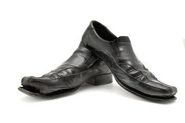 old shoe isolated on white background