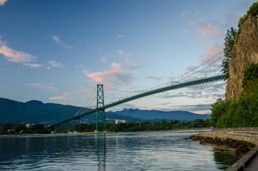 Lions Gate Bridge at Dusk, Vancouver