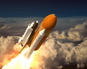 Space Shuttle In The Clouds © 3dsculptor