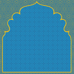 Arabian blue background