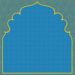 Arabian blue background