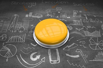 Composite image of shiny yellow push button