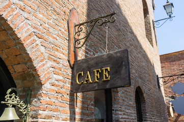 Antique Cafe Sign Board