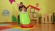 12of15 Children, teacher playing in kindergarten, preschool