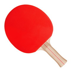 Racket for ping-pong on white background