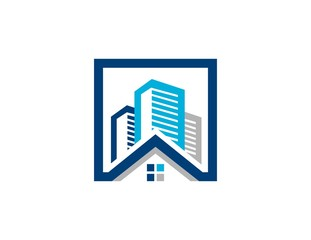 house, real estate logo, finance business company, construction