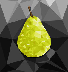 Abstract polygon background with pear