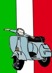 Classic italian motorcycle