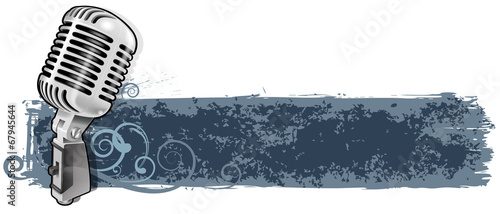 microphone banner - 67945644