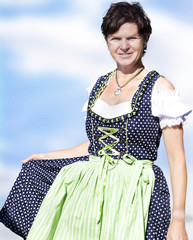 Woman in Dirndl