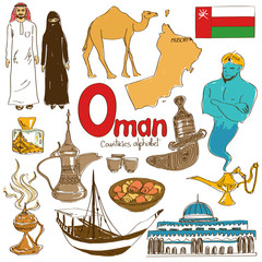 Collection of Oman icons