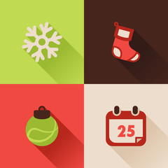 Christmas flat icons Set III