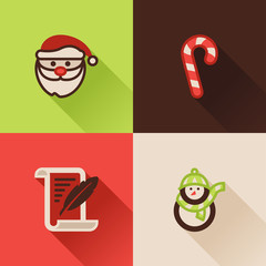 Christmas flat icons Set I