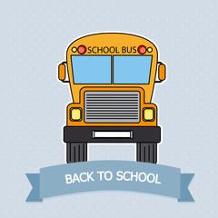 Card Back to school. School bus