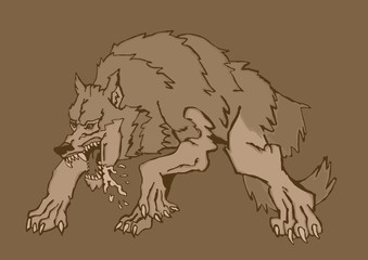 Vintage big wolf