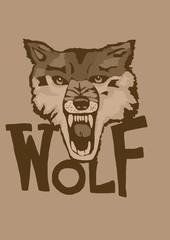 Vintage wolf head