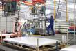 canvas print picture - Karosserie Auto Fabrik