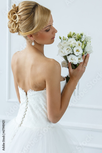 canvas print picture Wedding. Beautiful bride
