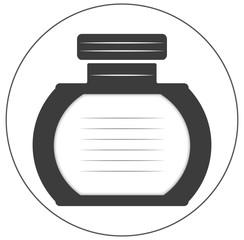 Flaschensymbol rund