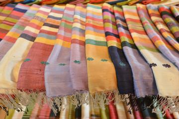Tela de seda, Luang Prabang, Laos