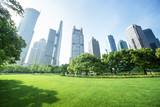 park in  lujiazui financial center, Shanghai, China - Fine Art prints